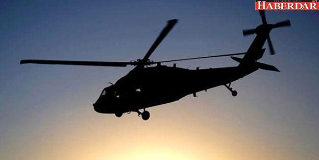 Polisleri taşıyan helikopter düştü!