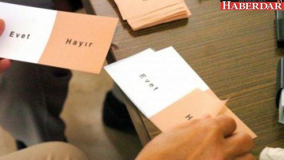 'Referandum oy pusulaları hazır'