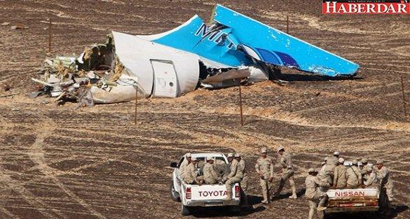 Rusya: Uçak bomba yüzünden düştü