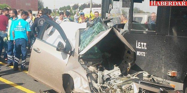 Sefaköy'de metrobüs kazası