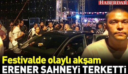Sertab Erener sahneyi terk etti