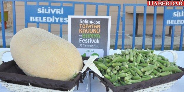 Silivri'de Bamya ve Kavun Festivali