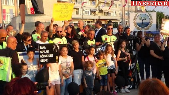 Silivri'de Çocuk İstismarı ve Kadına Şiddet Protestosu