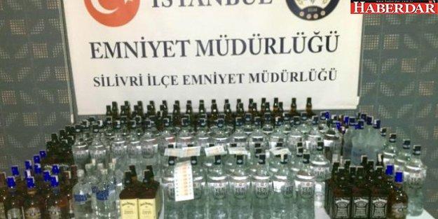 Silivri'de Kaçak İçki Operasyonu