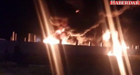 Silivri'de korkutan fabrika yangını