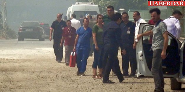 Silivri'de özel hastanede yangın paniği