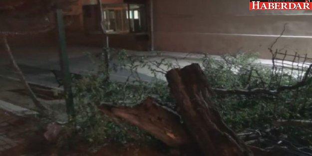 Silivri'de sağanak ve fırtına etkili oldu