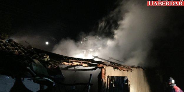 Silivri'de Samanlık Yangını
