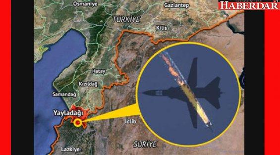Sınırda Rus uçağı düşürüldü..