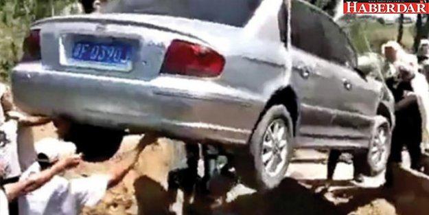 Son isteği yerine getirildi: Otomobiliyle gömüldü!