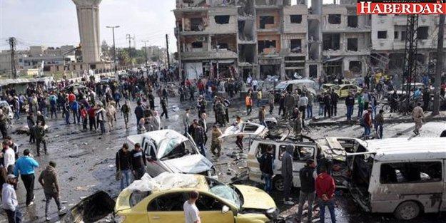 Suriye'nin Humus şehrinde iki bomba yüklü araç patlatıldı