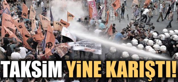 Taksim Meydan'ında TOMA'lı müdahale