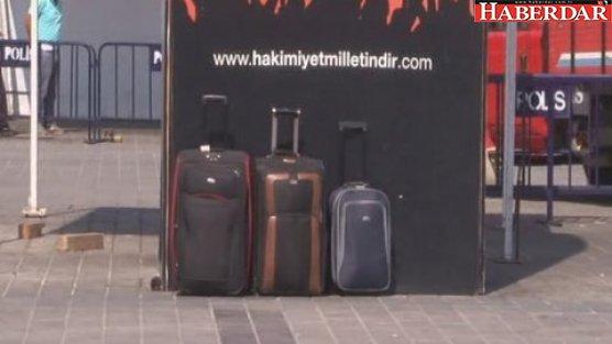 Taksim'de şüpheli bavul alarmı!