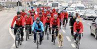 100 bisikletli Çanakkale ruhuyla 330 kilometre pedal çevirecek
