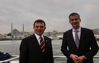 İBB Başkanı İmamoğlu Atina Belediye Başkanı'nı kabul etti