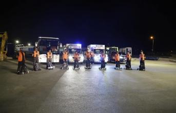 Büyükçekmece Belediyesi arama kurtarma ekipleri Manavgat'ta