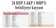 24 HDP 3 AKP 1 MHP#039;li belediyeye kayyum