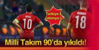 A Milli Takımımız, Letonya ile 1-1 berabere kaldı.