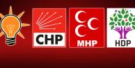 AK Parti, CHP, MHP ve HDP'nin 25 Adayı Değişti