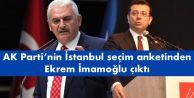 Ak Parti#039;nin İstanbul seçim anketinden Ekrem İmamoğlu çıktı