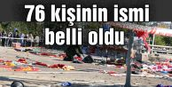 Ankara#039;daki katliamda ölen 76 kişinin ismi belli oldu