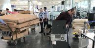 Atatürk Havalimanı#039;na oy sandıkları getirildi
