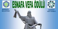 """BAKIRKÖYDE EN ESKİ 15 ESNAFA,""""ESNAFA VEFA ÖDÜLÜ"""""""