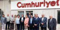 Basın Konseyi'nden Cumhuriyet'e Destek Ziyareti