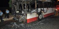 Belediye otobüsüne molotof kokteyli saldırı