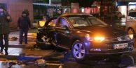 Beşiktaş#039;ta kaza! Savaş alanına döndü