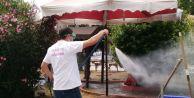 Çatalca Belediyesi İlaçlama Ekibi iş başında