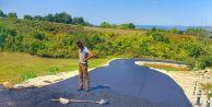 Çatalca yollarında asfaltlama çalışması