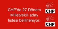 CHP#039;de gözler 27.Dönem Milletvekili aday listesinde