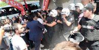 CHP#039;lilerin #039;mermi#039; protestosunda gergin anlar