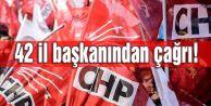 CHPde 42 il başkanından kongre çağrısı