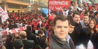 CHP'li gençlerden Metal-İş grevine destek