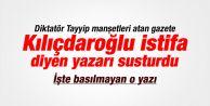 Cumhuriyet'ten Bedri Baykam'a sansür