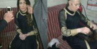DEAŞ#039;lı teröristin şoke eden kadın kılığı