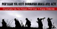 Diyarbakır#039;da Yol Kesen PKK#039;lılar 1 Kişiyi Öldürdü