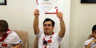 Engelli izciler mezun oldu