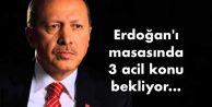 Erdoğan#039;ı masasında 3 acil konu bekliyor...