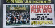 Geleneksel Pilav Günü daveti billboardlarda