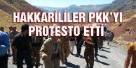HAKKARİLİLER PKK'NIN KÖPRÜ BOMBALAMASINI PROTESTO ETTİ