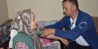 Hasta vatandaşlara evde bakım hizmeti