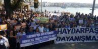 Haydarpaşa Garı ihalesinde İBB#039;den devre dışı bırakılması protesto edildi...