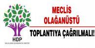 HDP: Meclis derhal olağanüstü toplantıya çağrılmalı