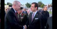 İBB Başkanı İmamoğlu, Cumhurbaşkanı Erdoğanı protokolde karşıladı