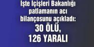 İçişleri Bakanlığı: Ankara#039;daki Patlamada 30 Kişi Öldü