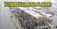 İstanbul#039;da kar alarmı: Tüm seferler iptal