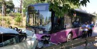 İstanbul#039;un Göbeğinde Halk Otobüsü 9 Otomobili Biçti: 11 Yaralı!